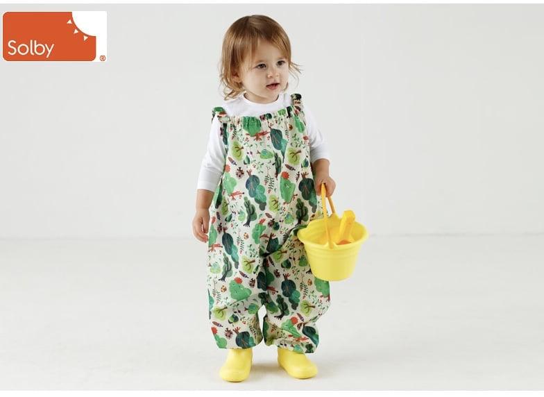 ソルビィのプレイウェアを着る赤ちゃん