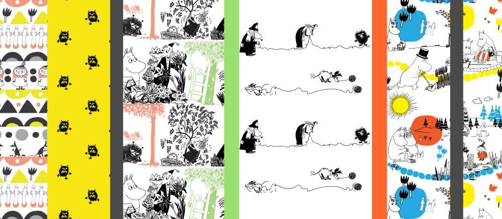 ムーミン版の生地パターン