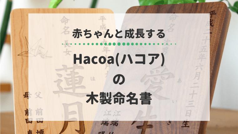 Hacoaハコア 命名書